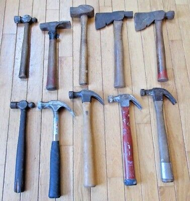 Lot of 10 Hammers / Hatchets - Anniversary, Benchtop, Task Force and others
