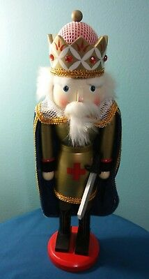 Rite Aid Exclusive ~ The King ~ Deluxe Wooden Nutcracker ~ 15 1/2 Inches