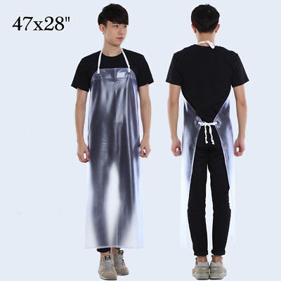 """47""""x28"""" Waterproof Clear PVC Dish Washing Apron Kitchen Restaurant Cleaning"""