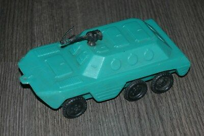armored car toy ussr plastic (hard capron)  19 cm Long 1970