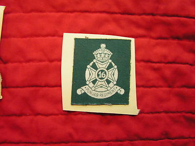 16Th Punjab Regiment, Indian Army Formation Sign  King's Crown, Wwii British