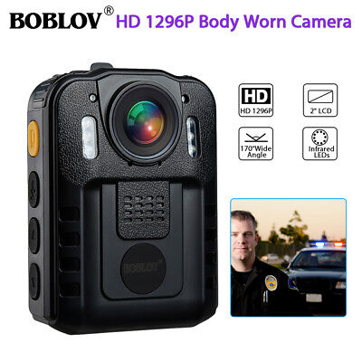 HD1296P Body Personal Security Police Camera Night Vision 170° Wide Angle DVR US