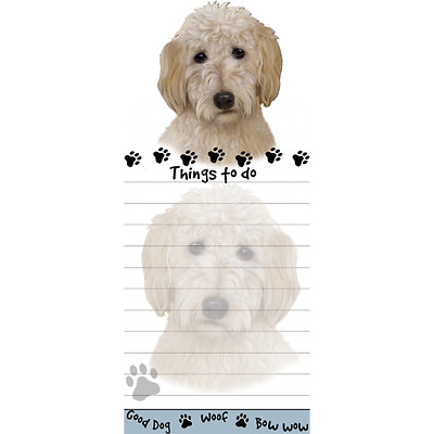 Goldendoodle Magnetic Post It Dog Breed Stationery Notepad