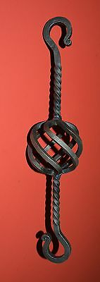 """Wrought Iron, 13 """" Basket, S-Hooks, Hanger, Chain Link, made by USA Blacksmiths"""