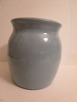 Vintage Bybee Pottery KY Crock/Vase Blue 7 Inches Tall & 5 1/2 Inches Across Top
