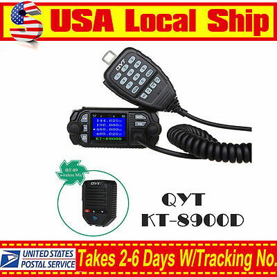 25W Color Screen QYT KT-8900D Quad-Standy Mobile Radio with BT-89 Wireless Mic