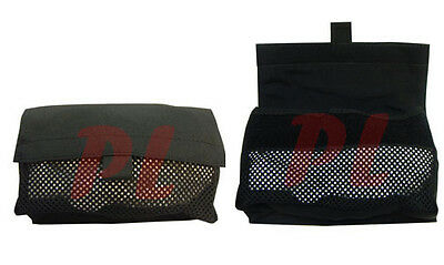 2 Pc Mesh Insert Utility Pouch Hook-and-Loop Utility Pouch-BLACK