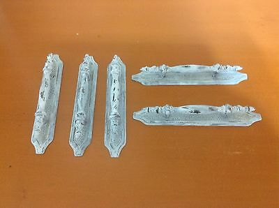 355 Vintage French Provincial Pulls Wt Back Plates White Shabby Chic 5 Available