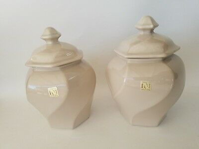 Vintage Napcoware Candy/Cookie Jars w/Lids Designed by A. Chen