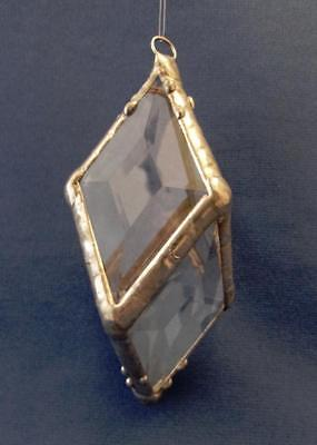 Hand Crafted Faceted Beveled Stained Glass Ornament