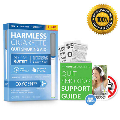 Quit Smoking Aid To Help Overcome Smoke Cravings / Harmless Cigarette (3 Pack)