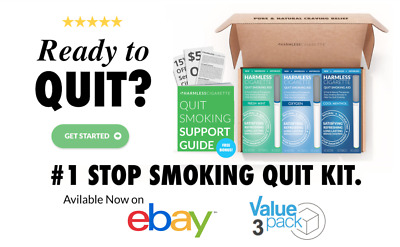 Quit Smoking Product + Free Stop Smoking Support Guide / Harmless Cigarette.