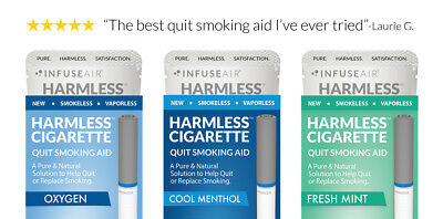 Natural Stop Smoking Aid / Habit Replacement Cigarette + Support Guid (3 Pack)