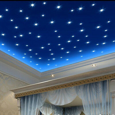100PCS Glow In The Dark Luminous Star Ceiling Wall Stickers Kids Room Decor AU