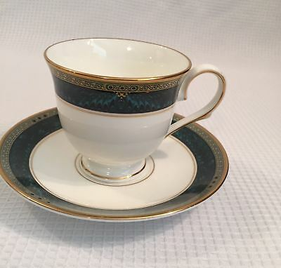 Lenox Classic Edition Green White Gold Collectible Coffee Cup Saucer Mint    R