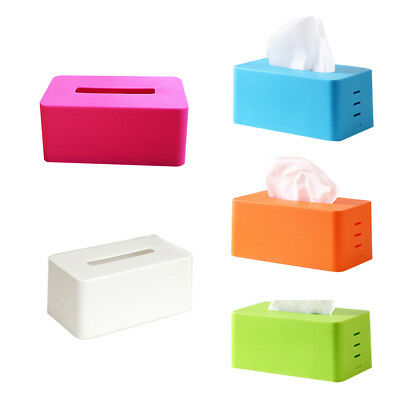 Plastic facial tissue napkin box toilet paper dispenser case hol C8T1