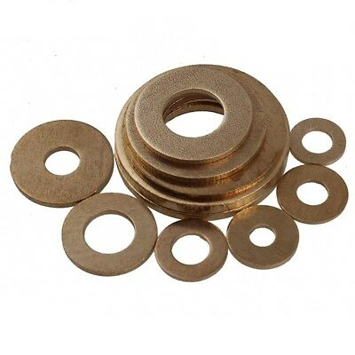 M5*10*0.8mm Solid Brass Flat Washers to Fit for Bolts & Screws