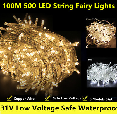 100M Indoor Outdoor christmas String Fairy Wedding Party Light 500 LED Light SAA