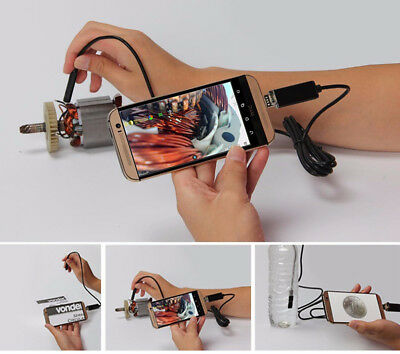 Car Endoscope 7MM 10M HD USB Camera 6Led 2IN1 Android Borescope USB Inspection
