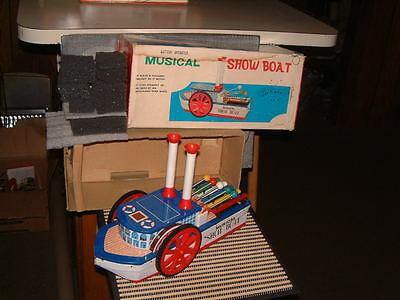 Gakken, Tin, Battery, Musical Show Boat. Fully Operational With Box! Rare!