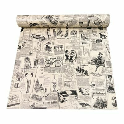 3D retro stereo imitation newspaper pattern waterproof wall stickers self-a A5L4