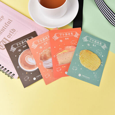 Afternoon Tea Time Food Memo Pad Sticky Notes School Supply Bookmark Sticker  ^
