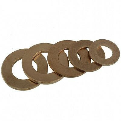 Qty 2 - M18*34*3mm Solid Brass Flat Washers to Fit for Bolts & Screws