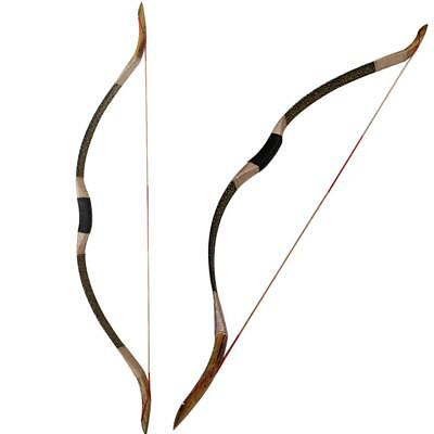 IRQ Traditional Archery Recurve Bow Handmade Vintage Longbow Hunting Practice