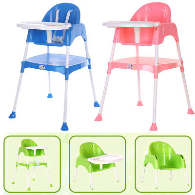 Baby Kids High Chair Foldable Adjustable Height Dining Room Feeding Highchair
