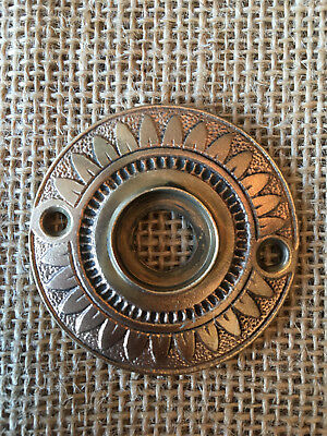 Antique Eastlake style decorative brass door knob rosette escutcheon