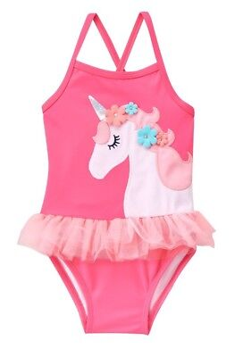 NWT Gymboree Girl Swim Shop Bright Rose Unicorn 1-Piece Swimsuit 2T 3T 4T