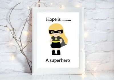 personalised batgirl batman a4 glossy poster Print nursery picture unframed