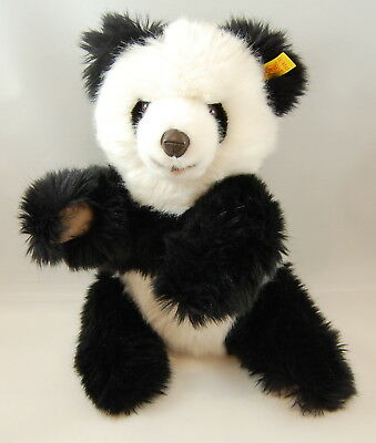 Vintage 1980's Molly Steiff Panda Bear With Ear Button #0326/32 12 inches