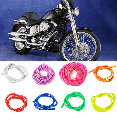 Pop 1M Gas Oil Hose Modified Fuel Line Petrol Tubes Pipes For Motorcycle Bikes