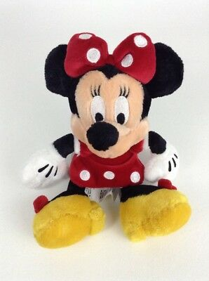 """The Disney Store 8"""" Minnie Mouse in Classic Red Outfit Plush Stuffed Toy Doll"""