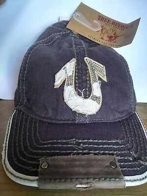 True Religion Hat NEW - Vintage/Distressed COFFEE color!