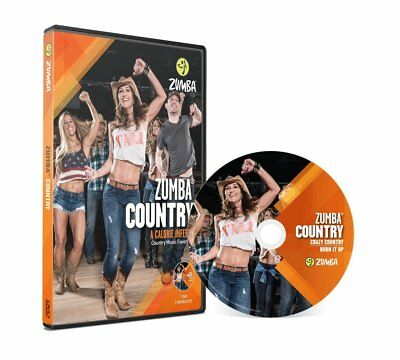 Zumba Country DVD Workouts Dance Step Set Slimdown Fitness Exercise Music Video