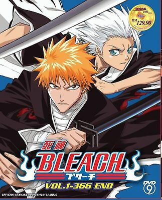 Anime DVD Bleach Complete Series Vol. 1-366 End English Sub ALL Region Free Ship