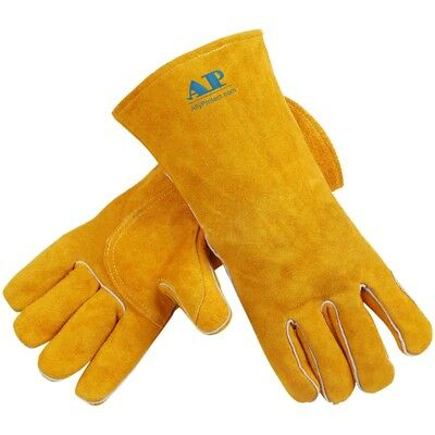 Pop Welding Gloves Thickened Fire Retardant TIG MIG Welder Worker Hand Protector