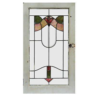 Antique American Floral Stained Glass Windows, 2 Available, NSG180