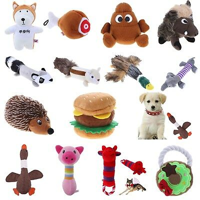 Animals For Dog Toy Play Funny Pet Puppy Chew Squeaker Squeaky Plush Sound Toys