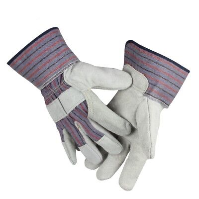 New Welding Gloves Moisture Wicking Labor Gloves Welder Cotton Lining Gauntlets