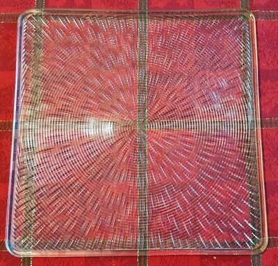 Square HOLOPHANE Glass Ceiling Light Shade Diffuser LENS 12×12 #774 VINTAGE NEW