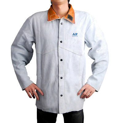 New Welding Jacket Flame Retardant Protective Tops Welder Coat Soldering Equip