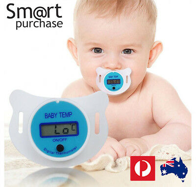 Practical Baby Kid LCD Digital Mouth Nipple Pacifier Thermometer Temperature AUA