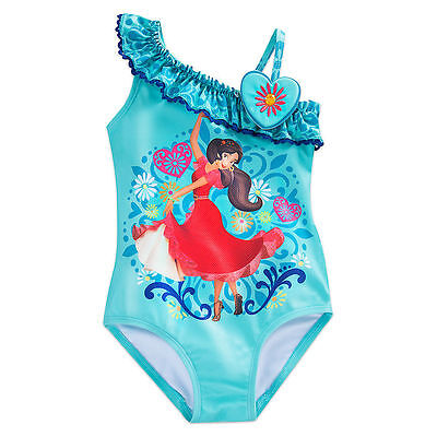 NWT Disney Store Elena Swimsuit Elena of Avalor 2pcUPF 50+ Girls2,4,5/6,7/8,9/10