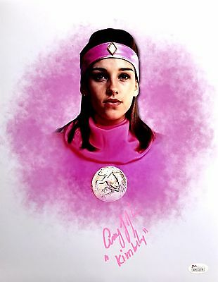 Amy Jo Johnson Signed Power Rangers The Movie Pink Ninja 11x14 Photo JSA COA