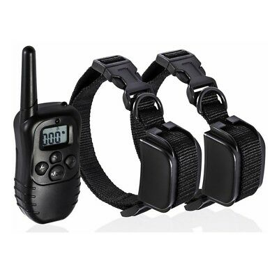 300m Pet Dog Training Electric 100LV Shock Remote Control Collar for 1 or 2 Dogs