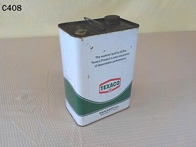 Vintage Texaco Texas Company 1 One Gallon Metal Oil Lubricant Grease Can Star