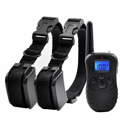 Rechargeable 300m Pet Trainer Behavior Corrector Training Collar for 1 or 2 Dog